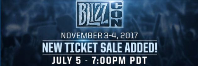 Additional Blizzcon Ticket Are Going On Sale July 5