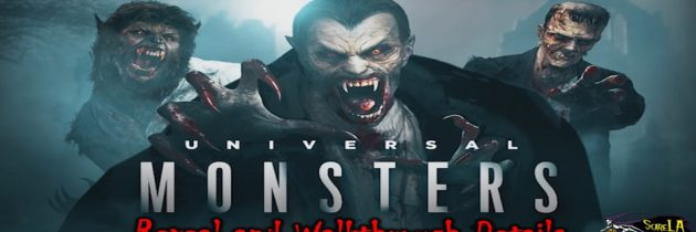 Halloween Horror Nights – Universal Monster Maze – Reveal and Walkthrough Details – ScareLA